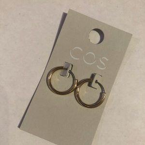 COS gold hoop earrings, small